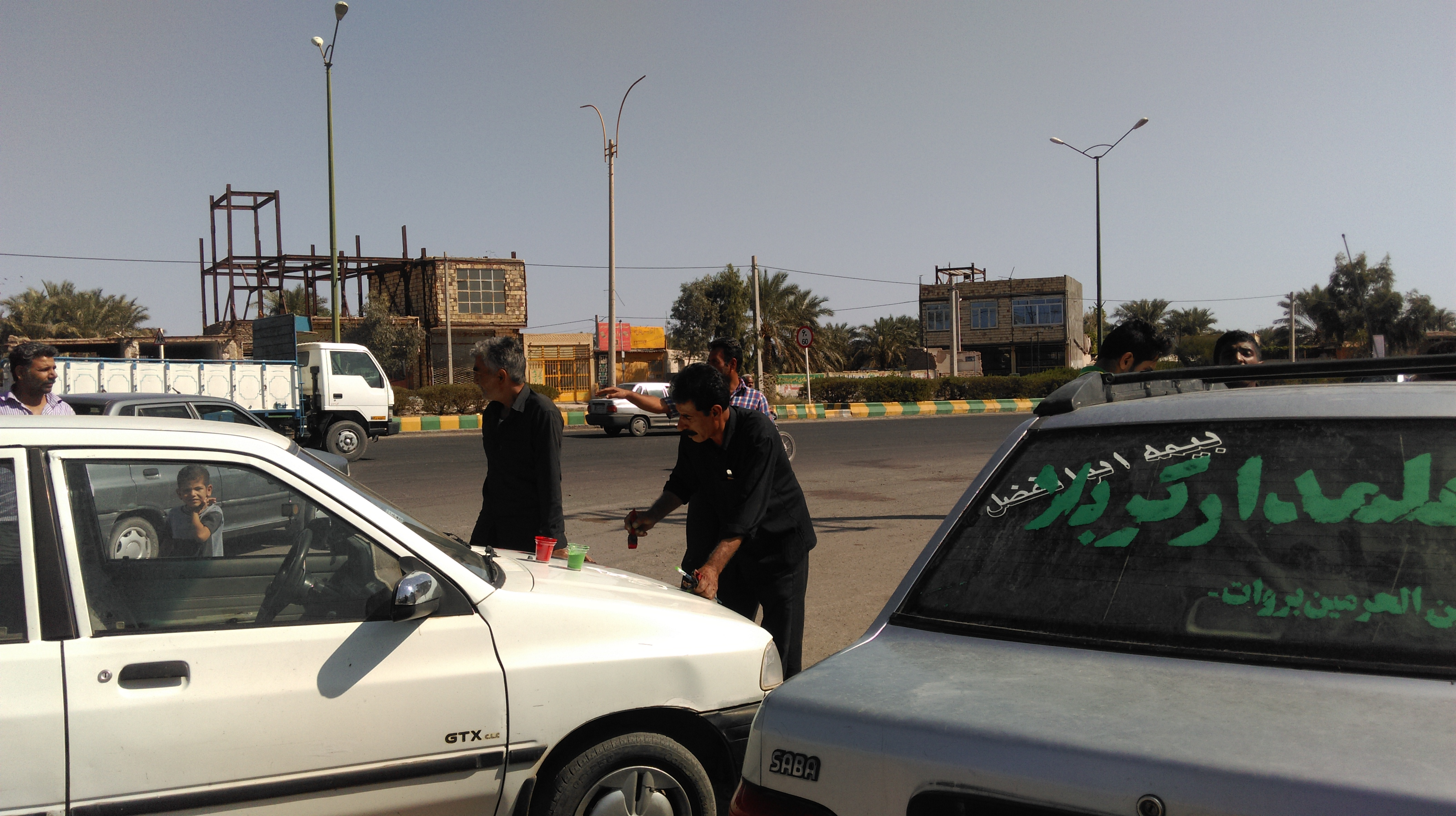 عکس ماشین نویسی هیئت بین الحرمین بروات .خیابان اصلی بم وزاهدان (فلکه اصلی)