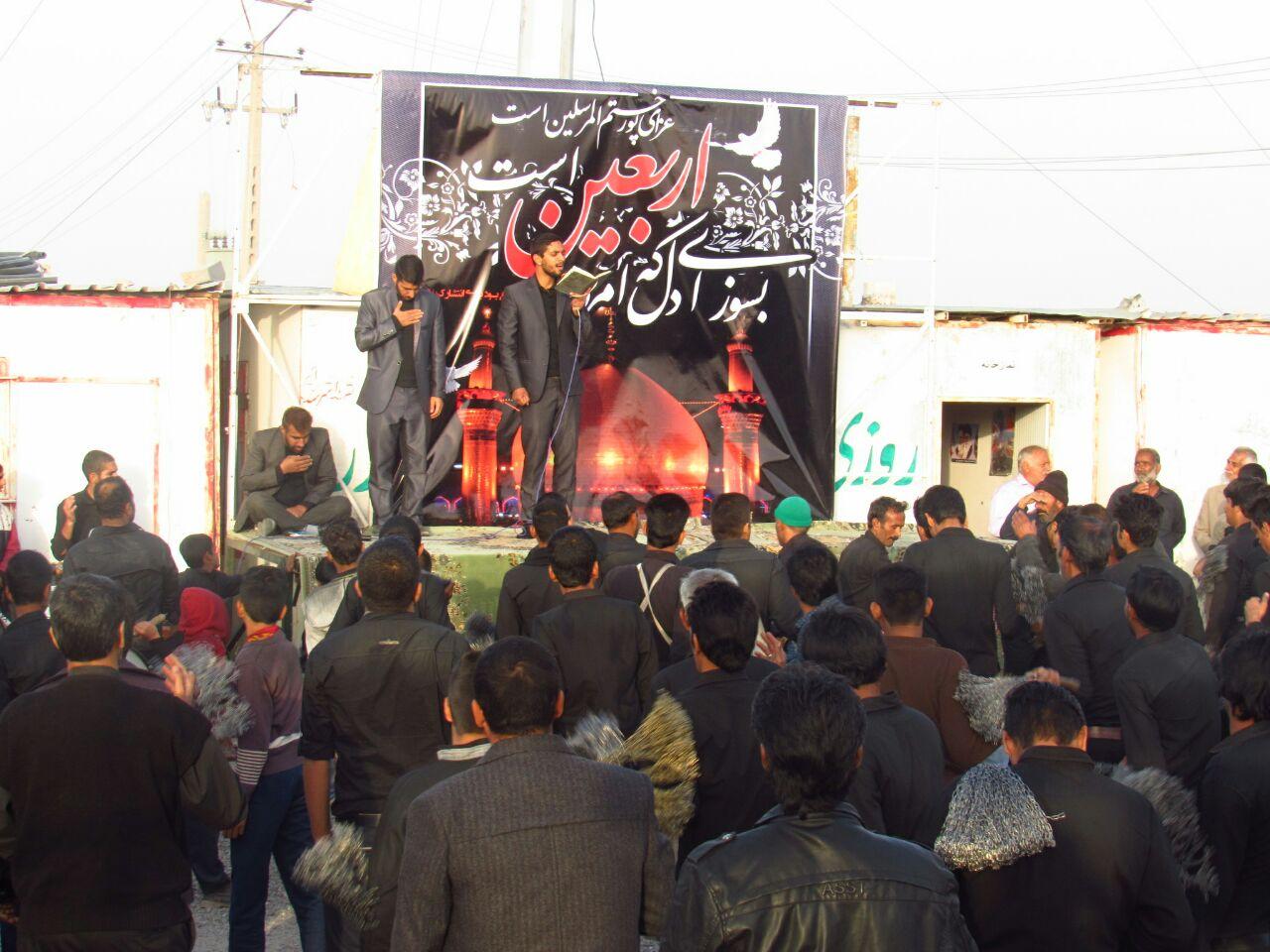 مراسم زنجیزنی کربلایی مهران بارانی مادحین بم در گلزار شهدای گمنام بروات سال۹۵اربعین (کربلا)